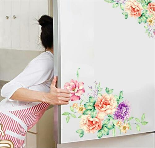 Removable Home Flowers Toilet Seat Wall Stickers Bathroom Vinyl Decor YW