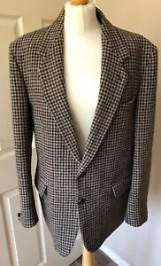 HARRIS-TWEED-JACKET-Dunn-and-Co-chest-40-sports-coat-Men-039-s-Beige-dogtooth