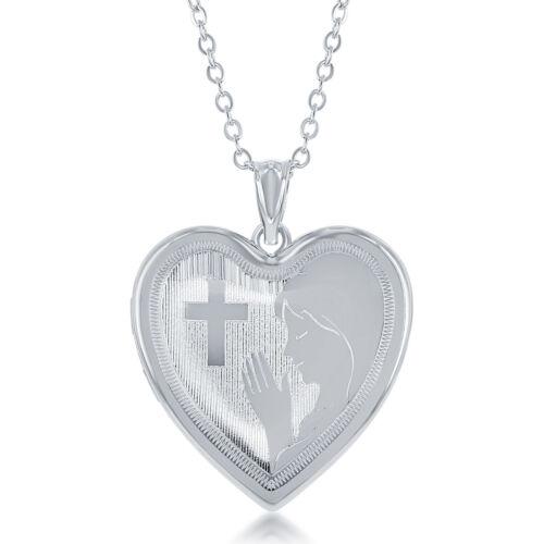 Heart Shaped Praying Women Cremation /& Picture Urn Locket