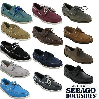 chaussures de sport a22ce b95c4 Sebago docksides men's leather nubuck lace up casual smart ariaprene   eBay