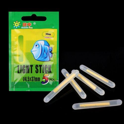 50Pcs Clip On Night Fishing Float Fluorescent Light Lightstick Dark Glow Stick