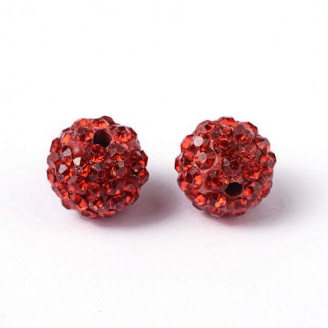 10mm Rhinestone Clay Disco Shamballa Beads - Silvar Design