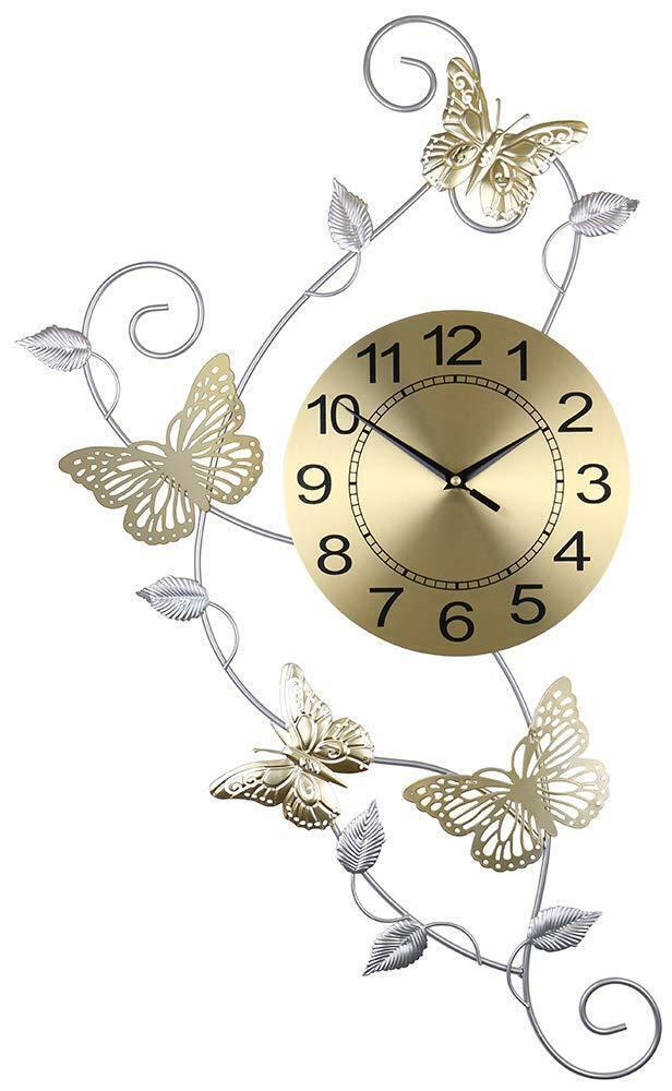 (D) élégant Ronde Horloge Murale Avec Papillons 30 x 17 in (environ 43.18 cm)