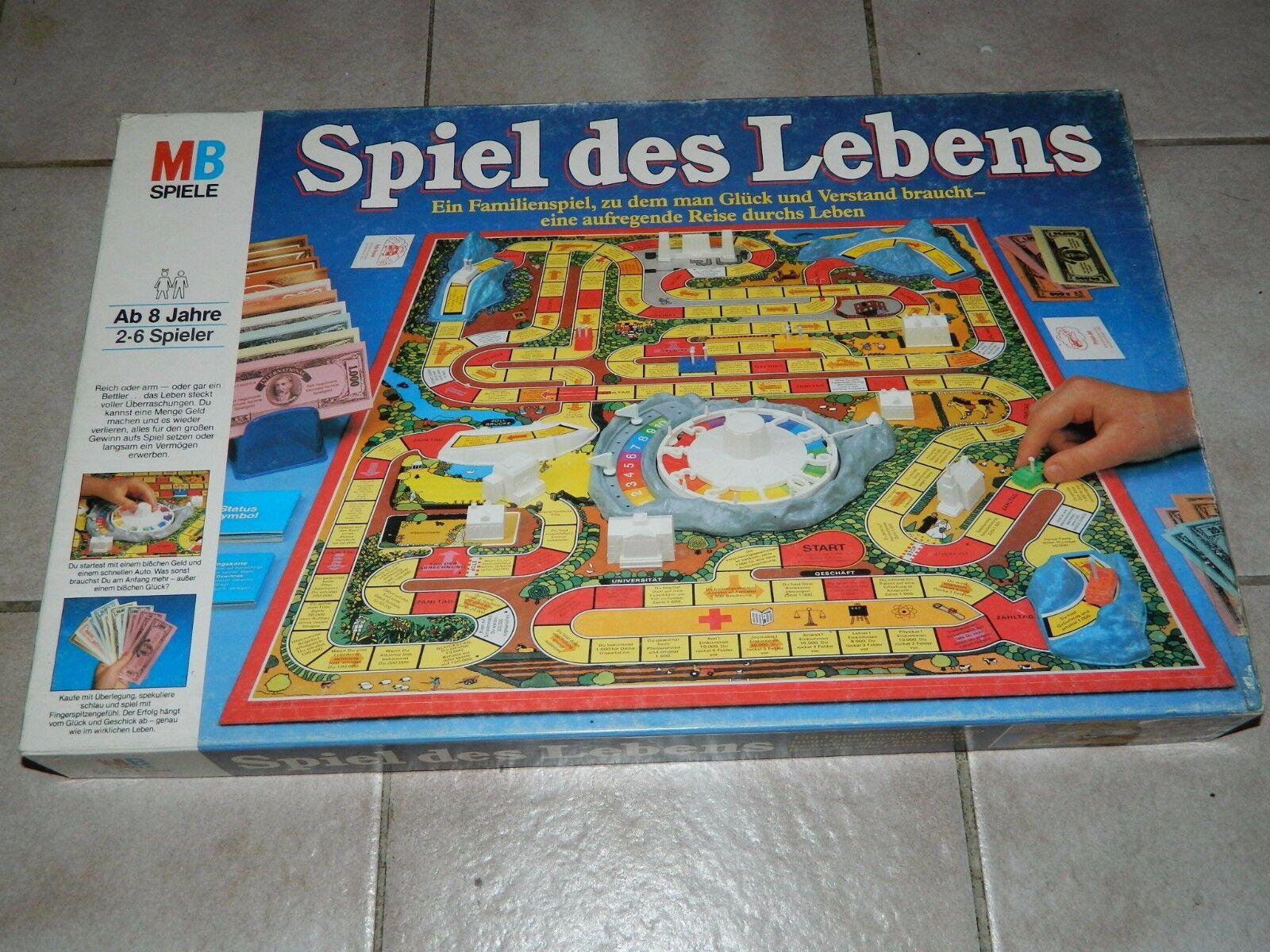Mb spiele - spiel des lebens - ca. 1984 - blauer karton - bahnhof ihr - kult