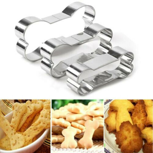 New Dog Bone Stainless Steel Biscuit Cookie Cutter Pastry Cake Baking Mold Tool