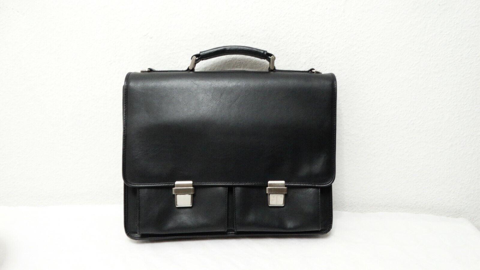 Leonard Heyden Akten Tasche Taschen  Schwarz Kunstleder  Leder |  Neuer Markt  | Fuxin  | Elegant