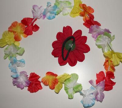Modeschmuck * Haargummi & Blütenkette Flower Power *neu