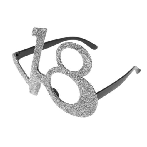 18th, 21st, 30th, 40th, 50th /& 60th Novelty Birthday Age Party Glitter Glasses