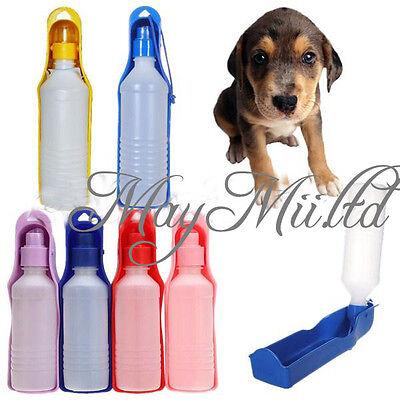 Plastic Foldable Pet Dog Cat Travel Water Drinking Feeding Bottle Bowl 250ml  J