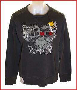 Sweat Jumper de Vintage Wrangler pour nouveau Bnwt Vintage Maverick Xlarge hommes gris Tr7w6T