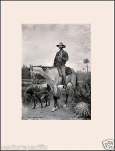 Cracker-Cowboy-Frederic-Remington-Circa-1898-Archival-Quality-Art-Print