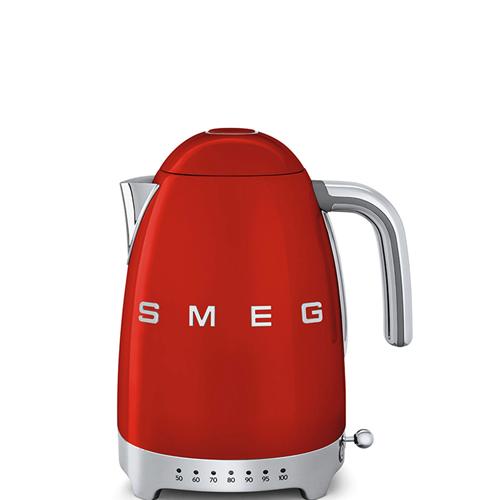 Bollitore Smeg elettrico di Couleure rouge con temperatura regolabile e logo 3D, e