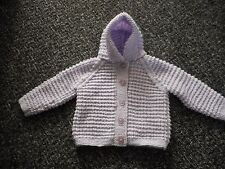 HAND KNITTED HOODED GIRLS JACKET/CARDIGAN (FIRST SIZE)