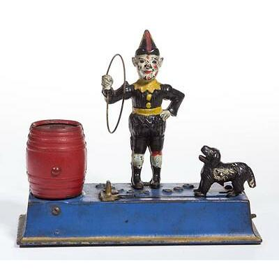 1009. TRICK DOG CAST-IRON MECHANICAL BANK Lot 1009