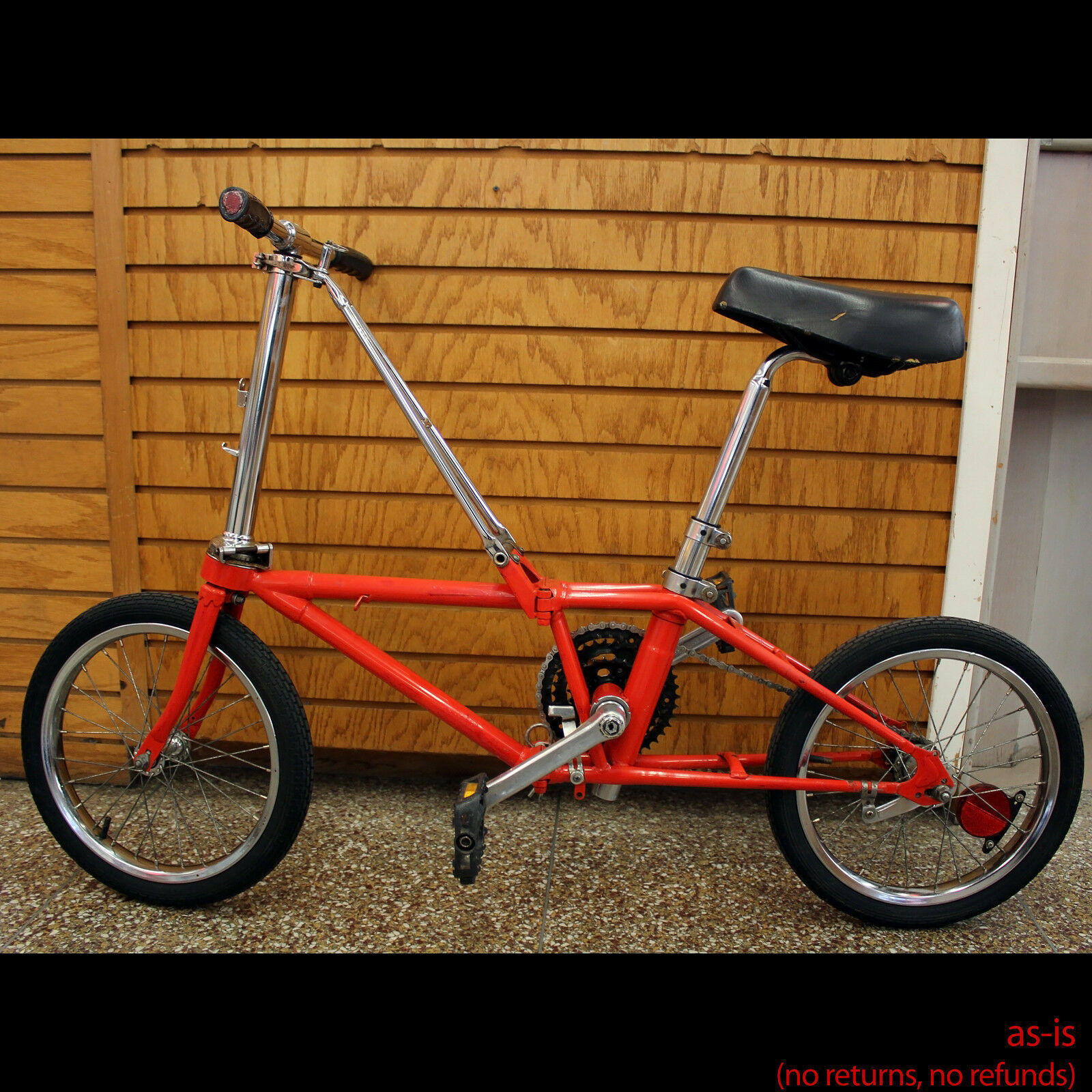 Vintage Dahon Folding Bike Bicycle, 3 Speed, For Parts or Repair