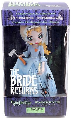 """Disney Wonderground Gallery 9/"""" The Haunted Mansion Bride Returns Vinyl Figurine"""