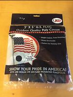 Olympus 3' X 5' U.s.a. Flag - Brass Grommets - 4th Of July - Cotton/poly -
