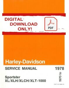 Harley Davidson 1974 Sportster Xl Xlh Xlch Xlt 883 1000 Models Service Manual Ebay
