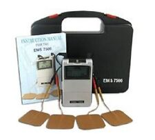 EMS 7500 Muscle Stimulation Therapy Machine Back Chronic Pain Relief TENS