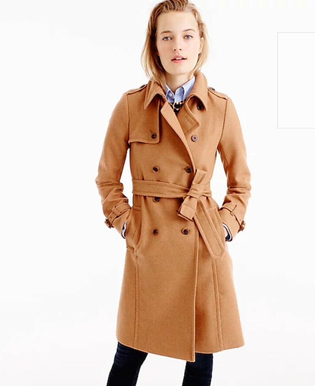 Nuevo Abrigo Trench J. CREW icono  en italiano de lana de Cachemira Abrigo Talla 0  365  compras de moda online