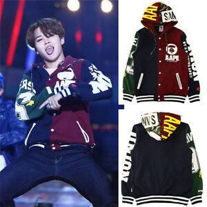 KPOP BTS Jimin Coat Baseball Uniform Bangtan Boys Sweatershirt ...