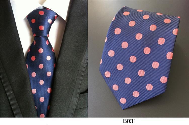 Krawatte Gepunktet Marineblau Und Koralle / Lachs Handgefertigt 100% Seide Ehe