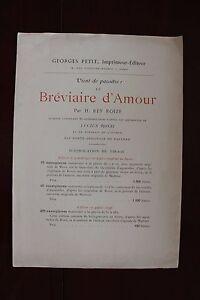 VIENT-de-PARAITRE-H-REY-ROIZE-Le-breviaire-d-039-amour-1897-Lucius-ROSSI