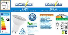 6x 5w = 50w ahorro de energía Bombilla Led GU10 2 Pin Techo bombilla Spot s8222