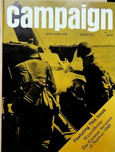 "Vintage ""Campaign"" #84 Magazine 1978 Weserubung The German Invasion of Norway"