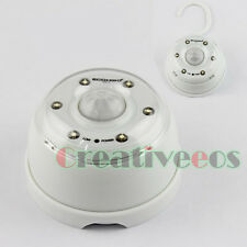 Auto PIR 6LEDs Infrared Motion Detector Wireless Sensor LED Light Lamp With Hook