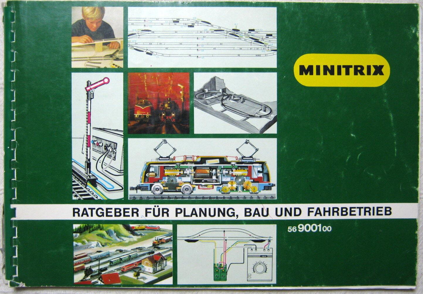 MINITRIX Gleisplan Gleispläne 56900100 Ratgeber Planung Bau 1984 Umfangreich