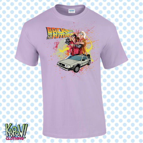 BACK TO THE FUTURE Mens T-SHIRT Marty McFly Delorean Hoverboard Gift Movie S-5XL