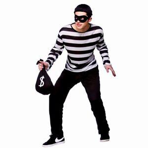 Unisex Burglar Eye Mask Fancy Dress Plain Black Costume Masquerade Robber Thief