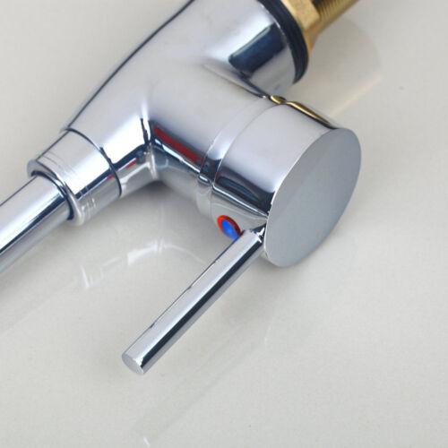 Kitchen Chrome Faucet Swivel Basin Sink Tap Deck Mounted Spout Mixer One Hole