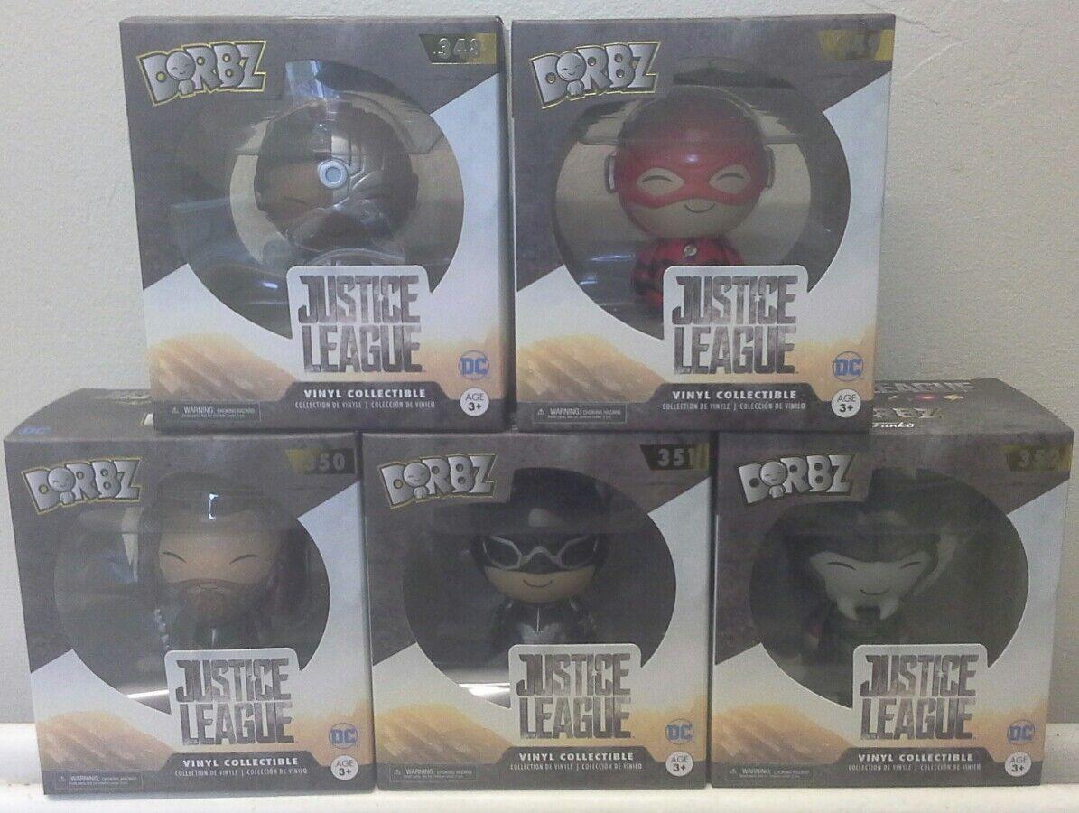Justice League Funko Dorbz Vinyl Figures Complete Set Set Set DC Batman Flash Aquaman b7b7df