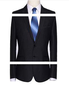 pantalone vestito Elegante gessato nero completo giacca abito uomo 1c7cq0vf 162ca65d5dc