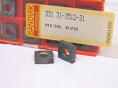 Sandvik Coromant 331.31-3512-31 K20 M15 Carbide Insert Grade H13A Box of 10pcs