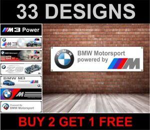 BMW MOTOR SPORT logo workshop, garage, office or showroom pvc banner