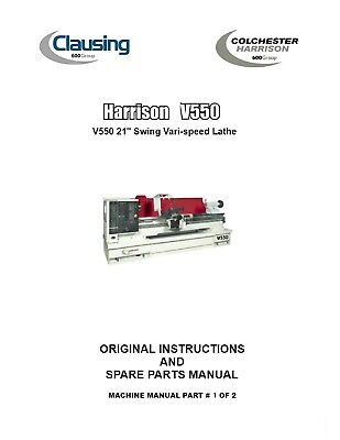 Harrison Lathe V550v Vari Dr Operations Manual&spare Parts List Pdf Manual Prt 1 Bracing Up The Whole System And Strengthening It Cnc, Metalworking & Manufacturing