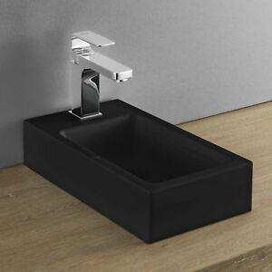 neu.haus] Waschbecken schwarz 40x22 Aufsatzwaschbecken ...