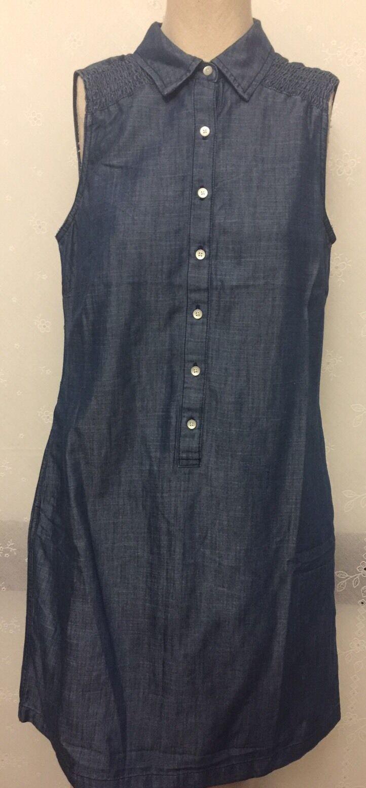NWT Talbots's Sleeveless Denim SZ 8P Dress