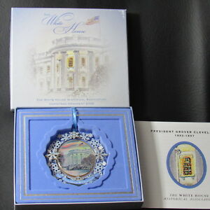 Image Is Loading White House Historical Association 2009 Christmas Ornament  GroverCleveland