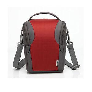Red-Nylon-Shoulder-Camera-Case-For-Sony-Cyber-shot-DSC-HX300-HX20V