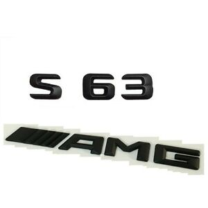 BLACK REAR BOOT TRUNK LID LETTER EMBLEM BADGE FOR W220 W221 W222 S500 AMG