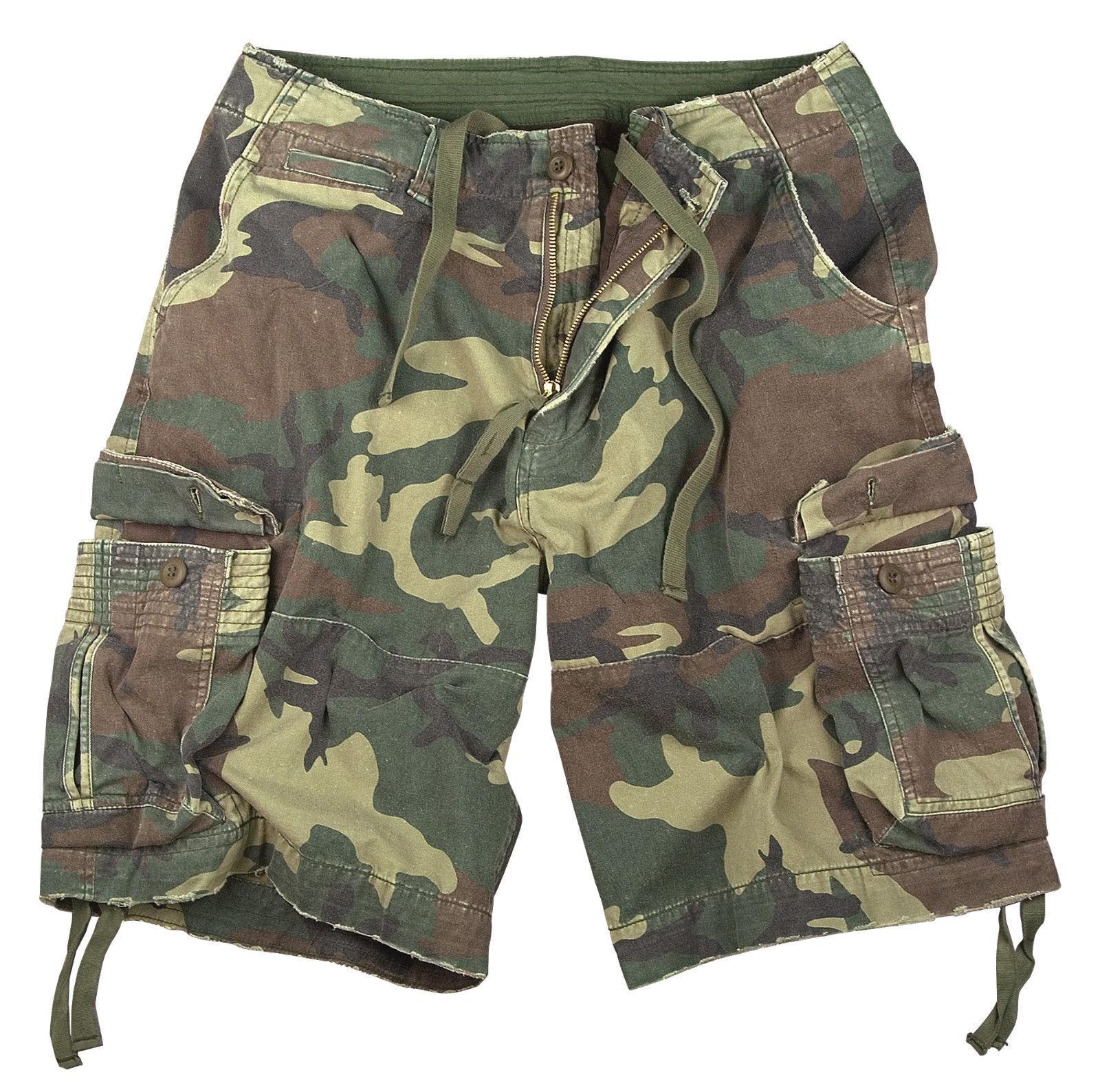 Shorts cargo camo woodland vintage military style infantry utility redhco 2540