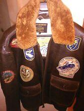 NEW Schott NYC Mens G1TG Wings of Gold G-1 Flight Pilot Jacket/ Brown SZ XL