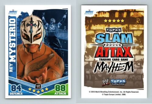 Rey Mysterio WWE Slam Attax Mayhem 2010 Topps TCG Card