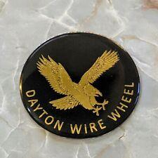 Black Amp Gold Eagle Dayton Wire Wheel Chips Emblems Decals Set Of 4 Size 225in