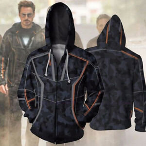 Avenger-Infinity-War-Iron-Man-Costume-Tony-Stark-Mens-Hoodie-Zipper-Jacket-Coat