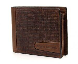 bruno-banani-Texas-Wallet-Quer-Geldboerse-Portemonnaie-Geldbeutel-Leder-Braun-Neu